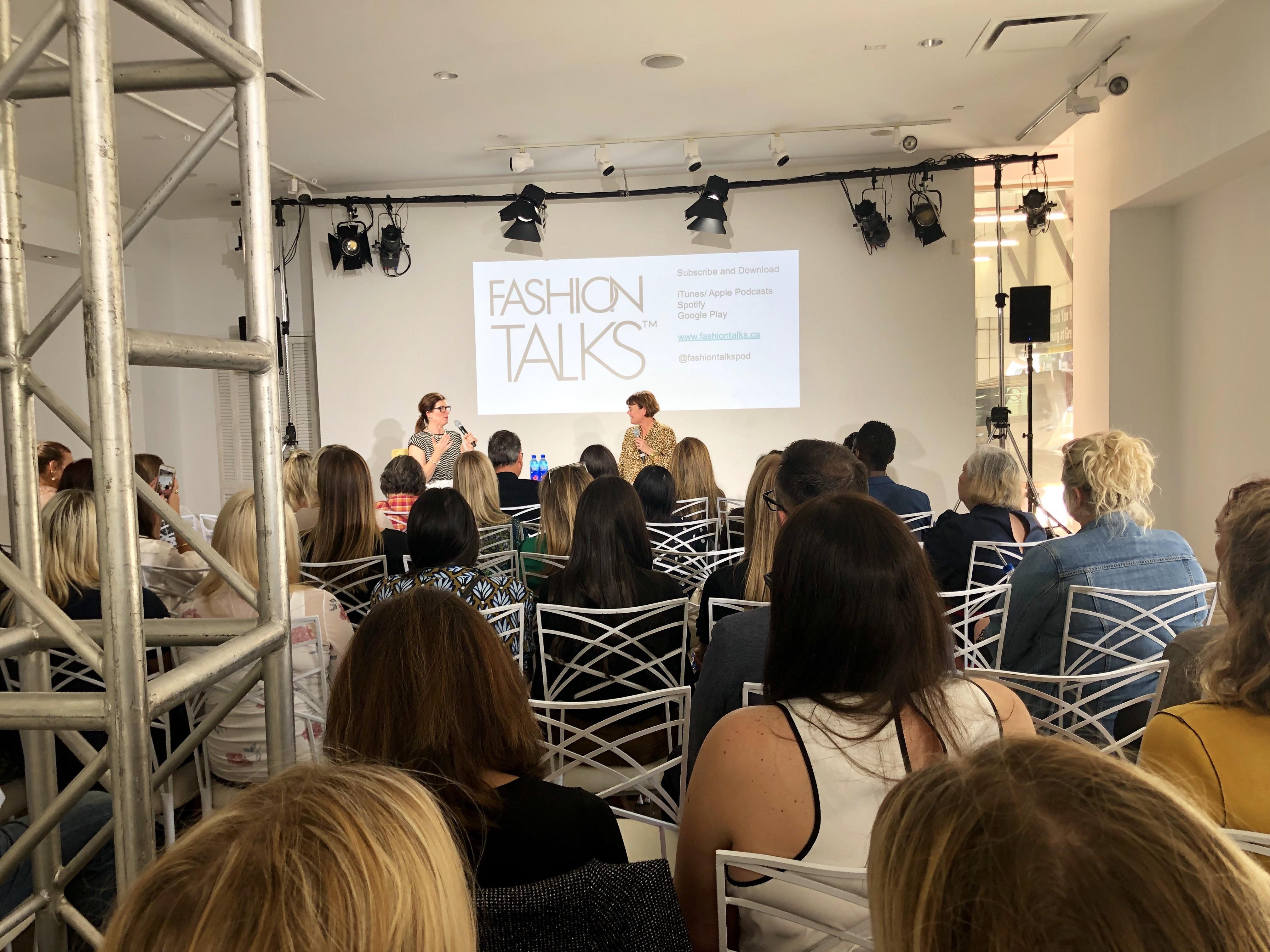 kim newport talking at fashion talks podcast