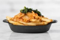 kimchi fries with seaweed
